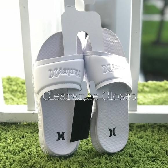 dd9ced1b1cd0 NWT Hurley Fusion Slide Women s Sandal White